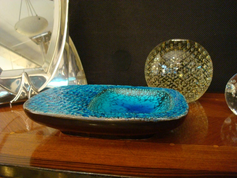 Ceramic Coupe Cendrier or Ashtray in the Style of Georges Jouve, France, 1960s In Good Condition For Sale In Buenos Aires, Olivos