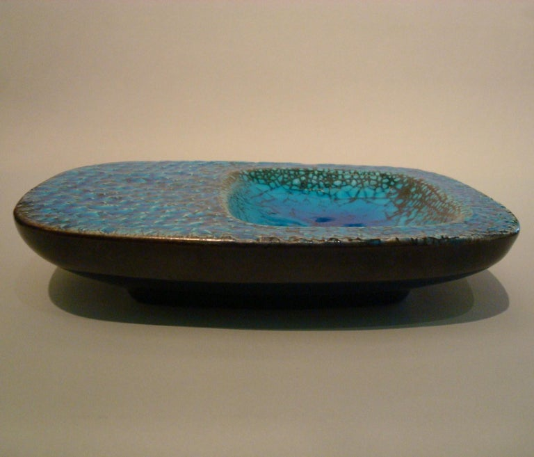 20th Century Ceramic Coupe Cendrier or Ashtray in the Style of Georges Jouve, France, 1960s For Sale