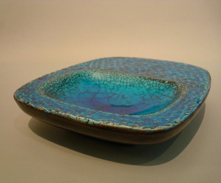 Ceramic Coupe Cendrier or Ashtray in the Style of Georges Jouve, France, 1960s For Sale 2
