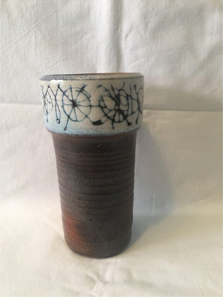 Ceramic Cup Vase by Wilhelm and Elly Kuch of Germany, Nice Item In Good Condition For Sale In Frisco, TX