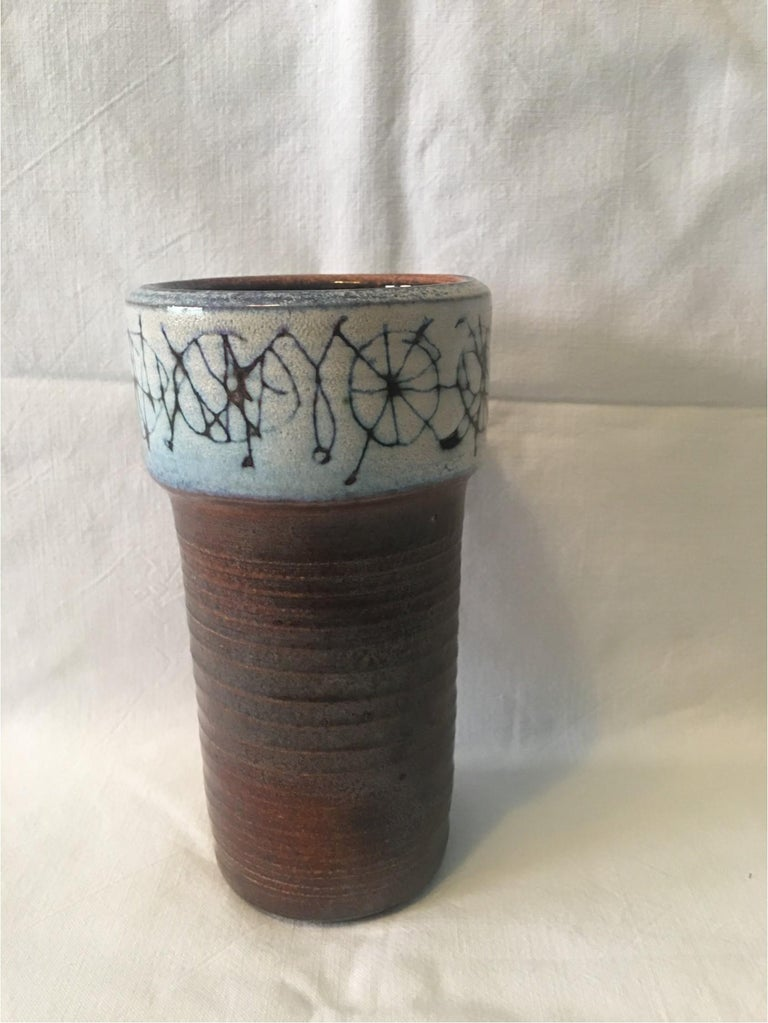 Mid-20th Century Ceramic Cup Vase by Wilhelm and Elly Kuch of Germany, Nice Item For Sale