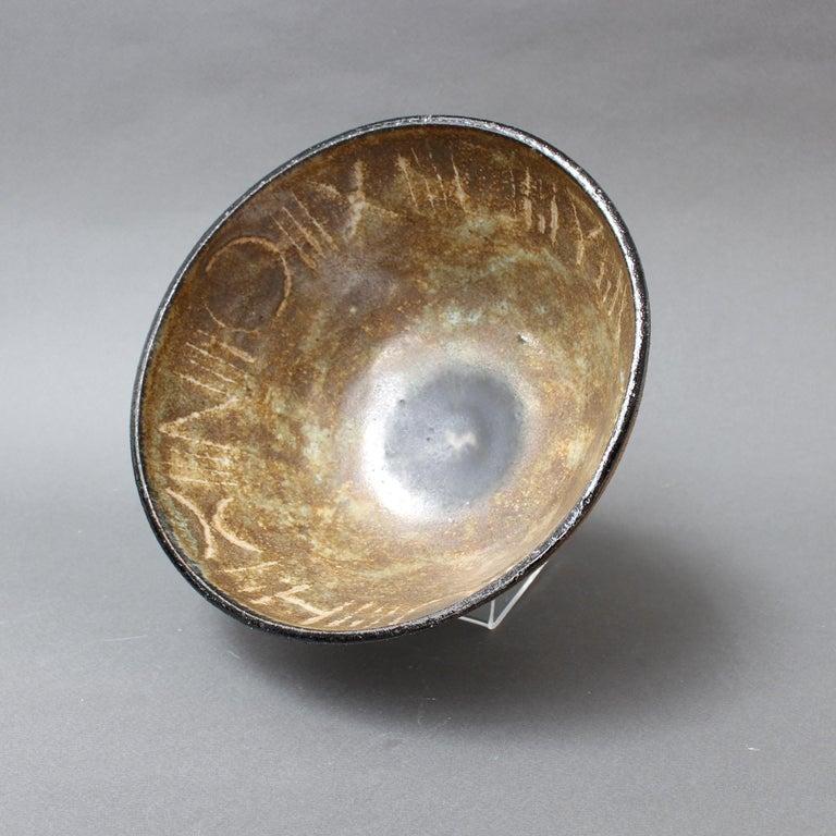 Italian Ceramic Decorative Bowl by Bruno Gambone, circa 1990s For Sale
