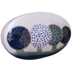 Ceramic Decorative Box by Frères Cloutier, France, circa 1970s