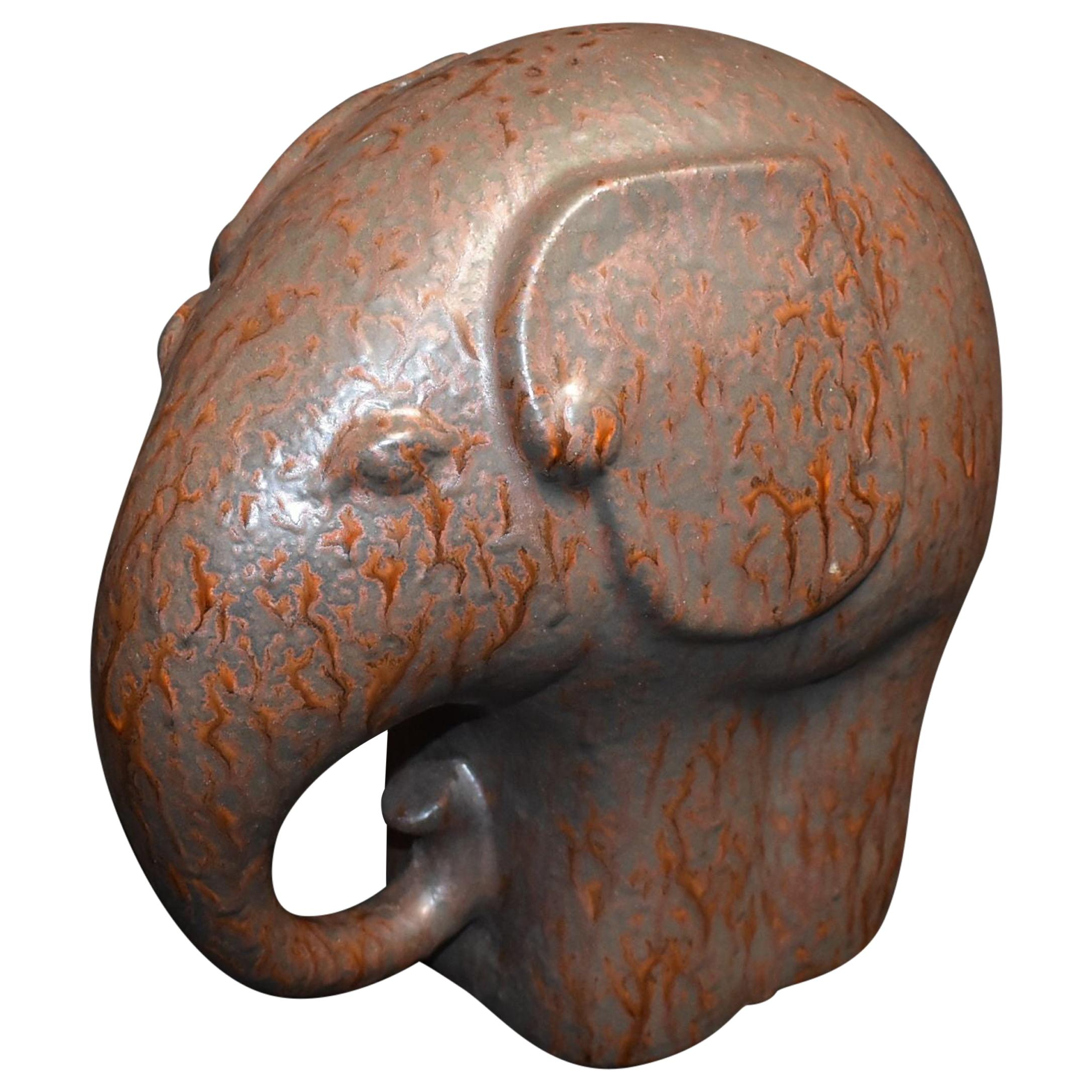 Ceramic Decorative Elephant Sculpture Minimalist