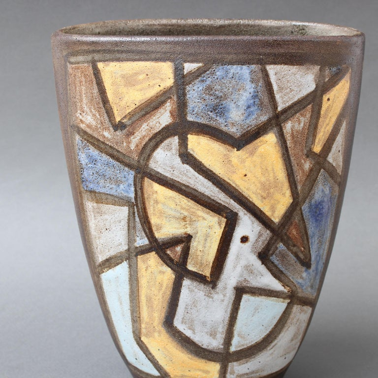 Ceramic Decorative Vase by Alexandre Kostanda, circa 1960s For Sale 4
