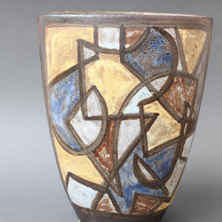 Ceramic Decorative Vase by Alexandre Kostanda, circa 1960s For Sale 5