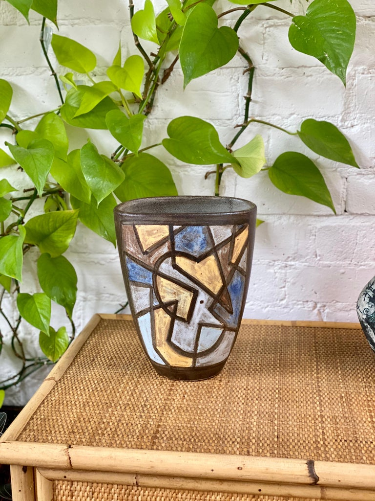 Ceramic Decorative Vase by Alexandre Kostanda, circa 1960s For Sale 8
