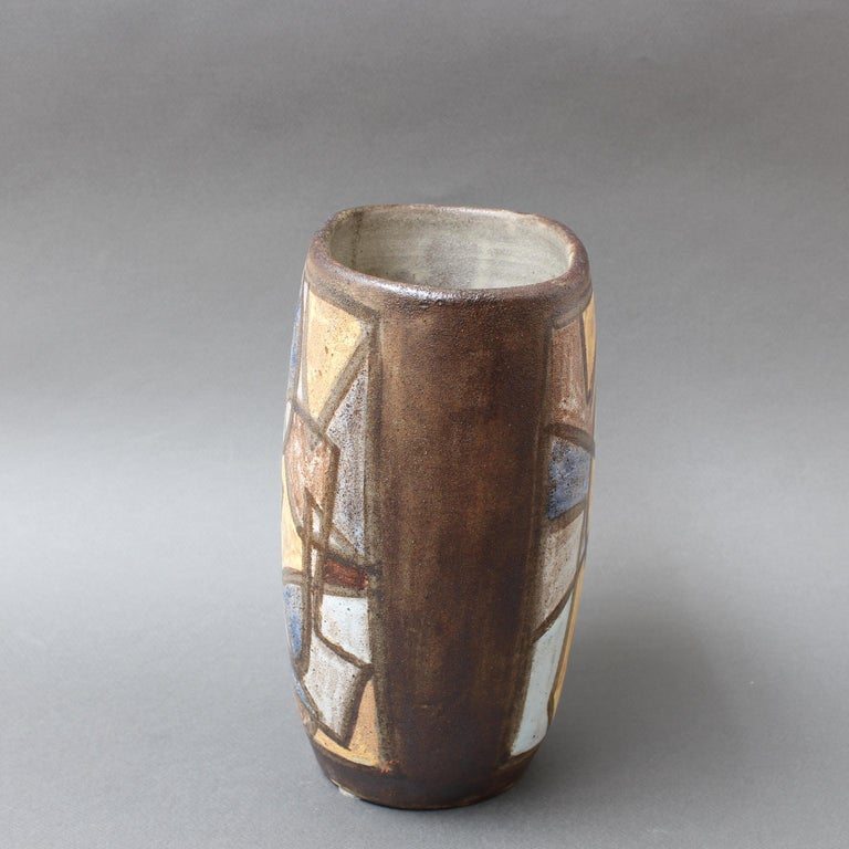 Ceramic Decorative Vase by Alexandre Kostanda, circa 1960s In Good Condition For Sale In London, GB