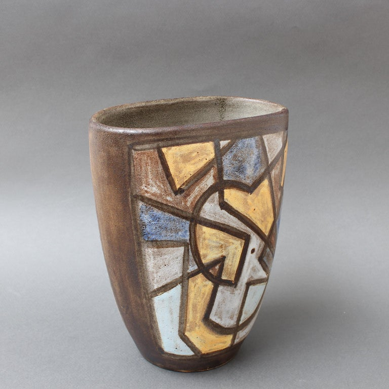 Mid-20th Century Ceramic Decorative Vase by Alexandre Kostanda, circa 1960s For Sale