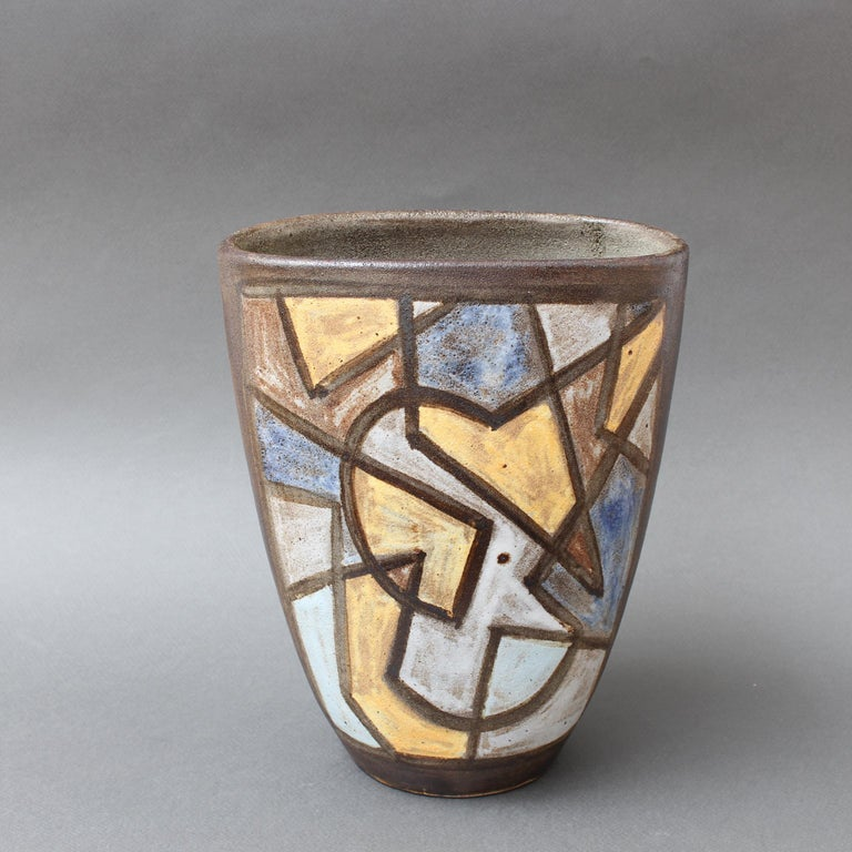 Ceramic Decorative Vase by Alexandre Kostanda, circa 1960s For Sale 1