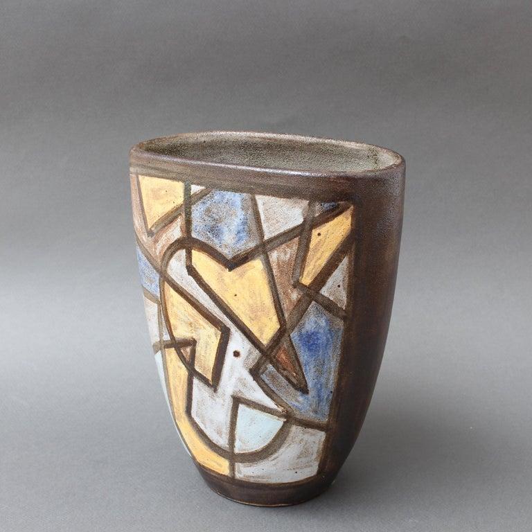 Ceramic Decorative Vase by Alexandre Kostanda, circa 1960s For Sale 2
