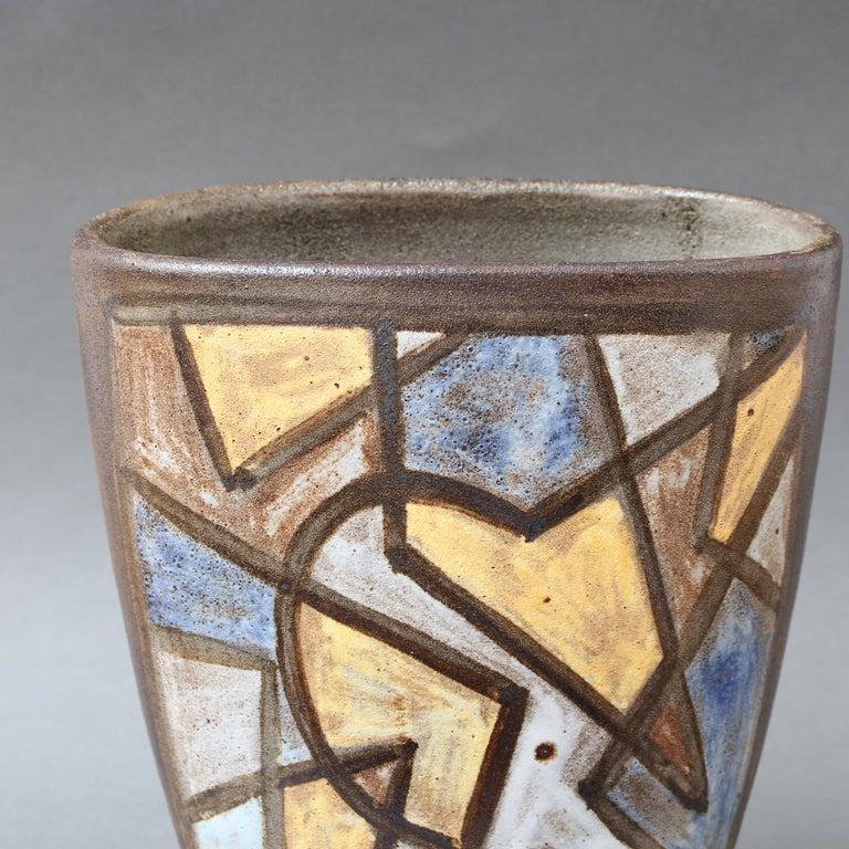 Ceramic Decorative Vase by Alexandre Kostanda, circa 1960s For Sale 3