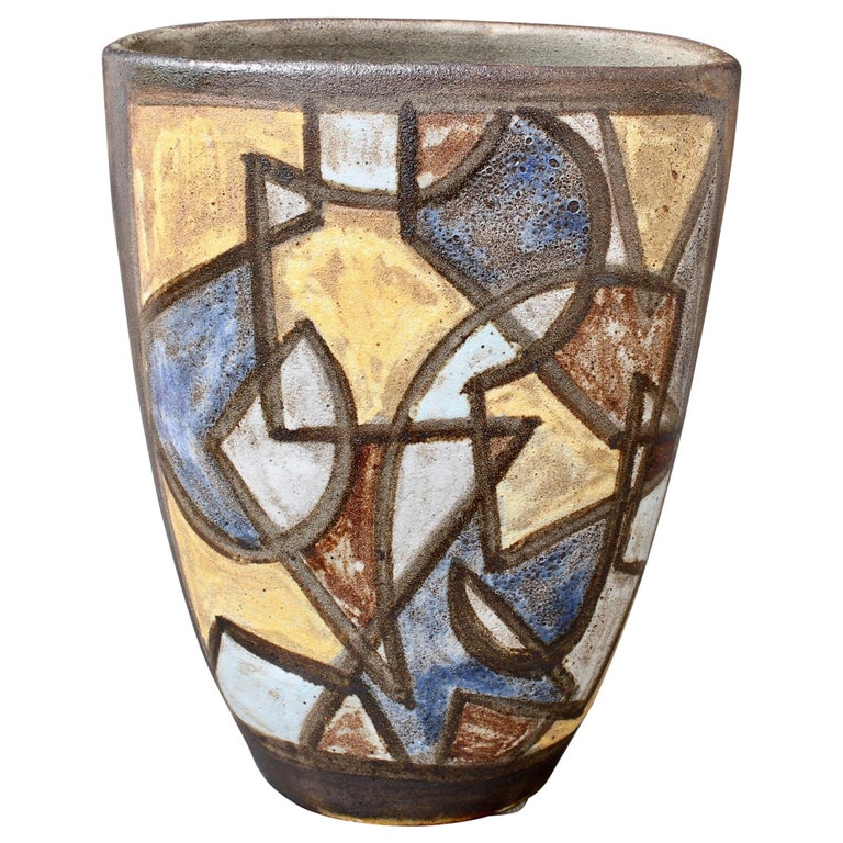 Ceramic Decorative Vase by Alexandre Kostanda, circa 1960s For Sale