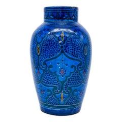 Ceramic Decorative Vase in Cobalt Blue