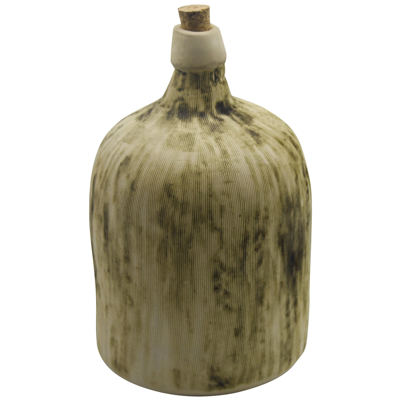 Ceramic Demijohn Bottle Mexican Mezcal Container Clay Oaxaca Rustic Design