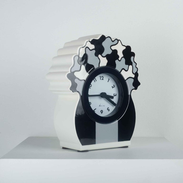 Italian Ceramic Desk Clock by George Sowden for Neos, Italy, 1980s For Sale