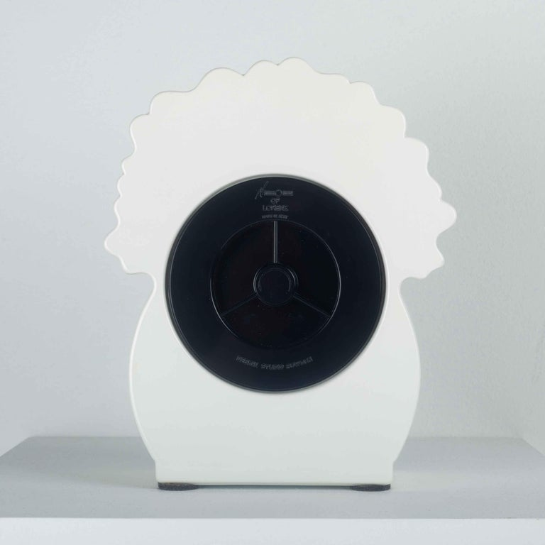 Late 20th Century Ceramic Desk Clock by George Sowden for Neos, Italy, 1980s For Sale