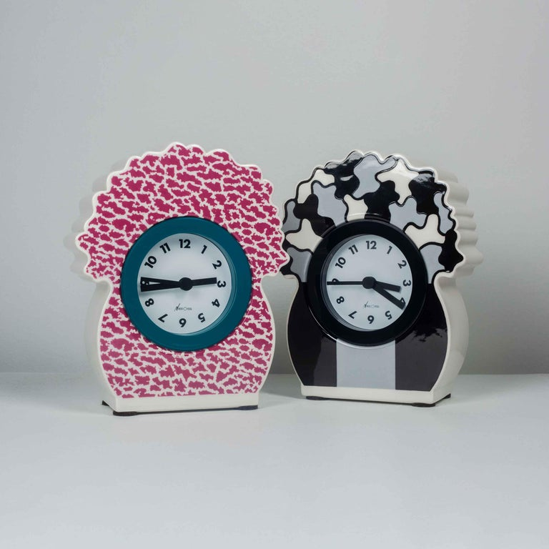 Ceramic Desk Clock by George Sowden for Neos, Italy, 1980s For Sale 1