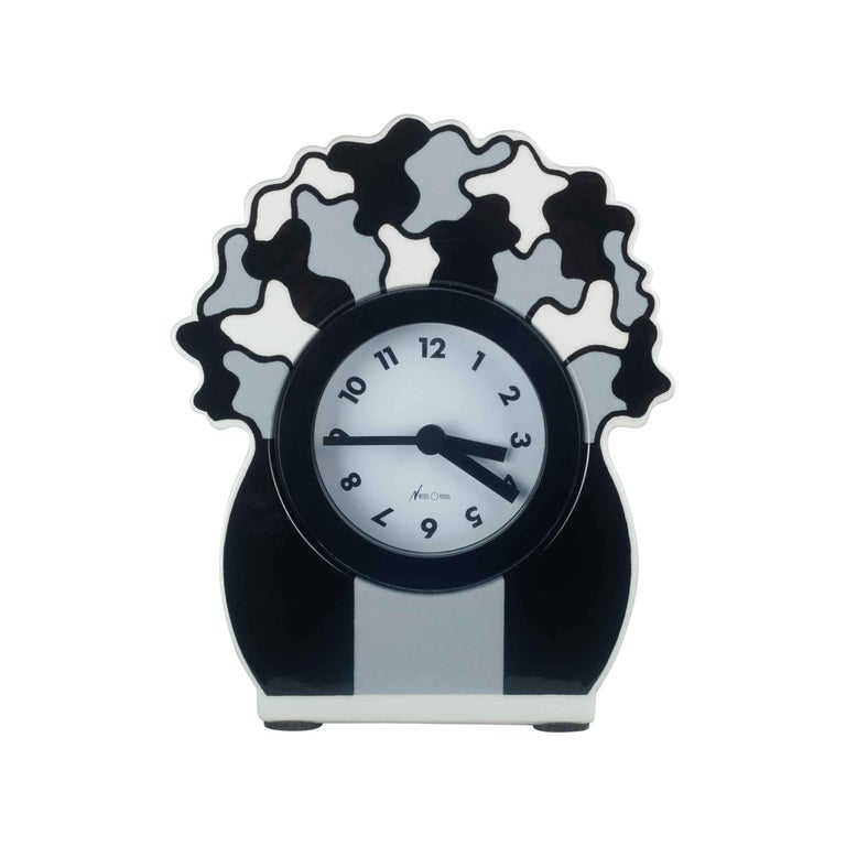 Ceramic Desk Clock by George Sowden for Neos, Italy, 1980s For Sale