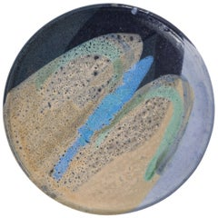 Ceramic Dish with Abstract Enamel Glaze