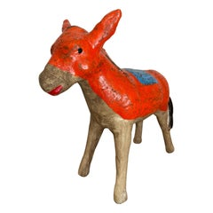 Ceramic Donkey Piggy Bank from Mexico, 1980s