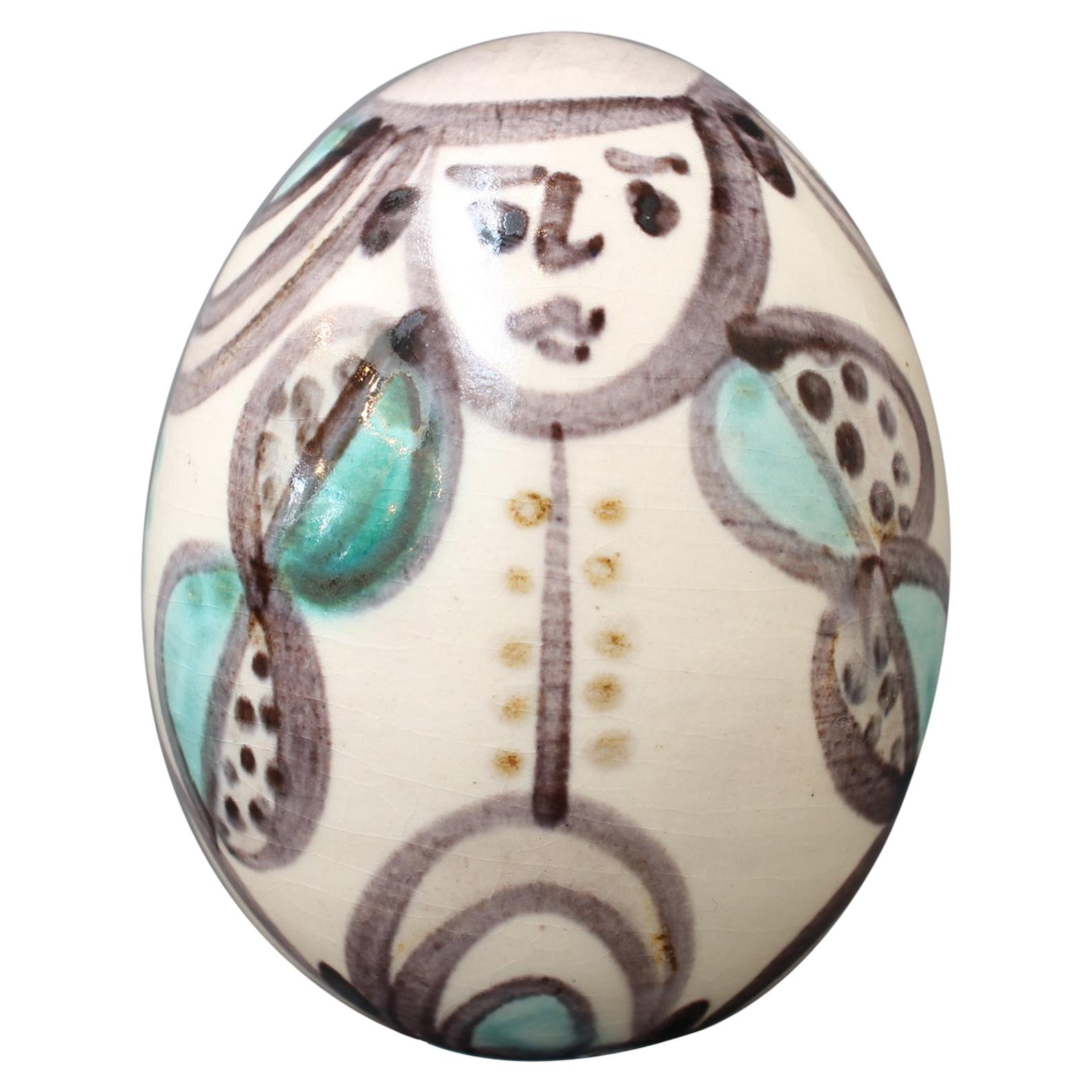 Ceramic Easter Egg from Atelier Madoura, circa 1960s