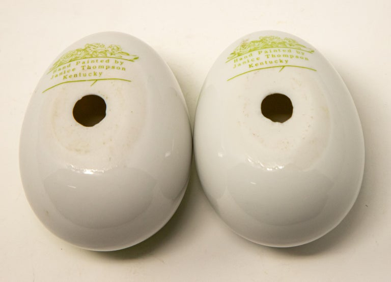 Ceramic Eggs with Floral Motif For Sale 1