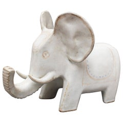 Ceramic Elephant Sculpture by Bruno Gambone, circa 1970s, Italy