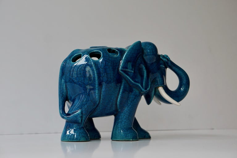 Ceramic Elephant Sculpture For Sale 2