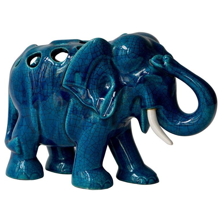 Ceramic Elephant Sculpture For Sale