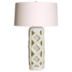 Ceramic Faux Bamboo Lamp, c. 1960