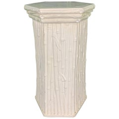 Ceramic Faux Bamboo Plant Stand Pedestal