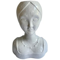 Ceramic Female Head Planter