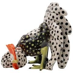 Ceramic Figure of a Cockerel, Sandro Vacchetti, Lenci 'Italy'