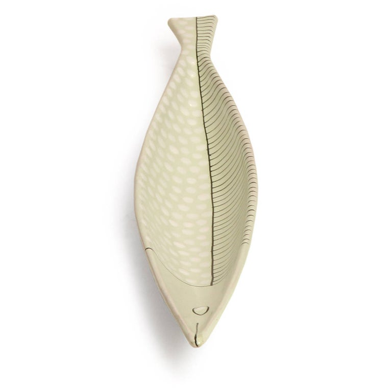 Mid-Century Modern Ceramic Fish Sculpture / Bowl by Bitossi for Raymor For Sale