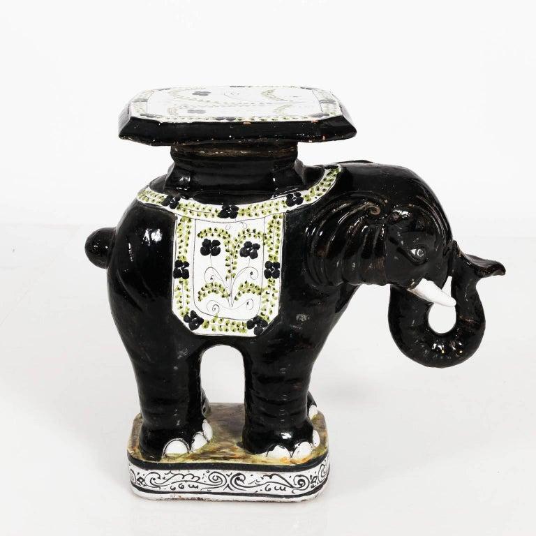 Ceramic Garden Elephant Seat For Sale 8