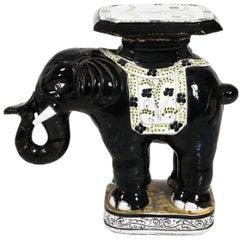 Ceramic Garden Elephant Seat