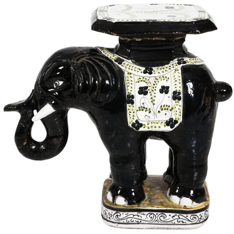 Ceramic Garden Elephant Seat For Sale