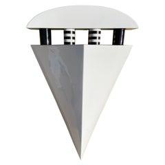 Ceramic Geometric Sconce/ Wall Light, Signed