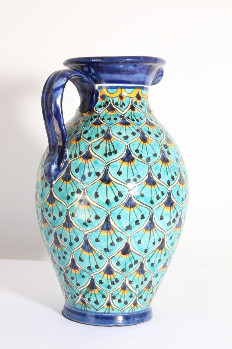 20th Century Ceramic Glazed Pitcher Handcrafted in Spain For Sale