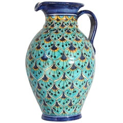 Ceramic Glazed Pitcher Handcrafted in Spain
