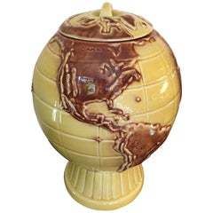 Ceramic Globe Cookie Jar