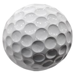 "Ceramic Golf Ball ""ALBATROS"" Handcrafted in White by Gabriella B. Made in Italy"