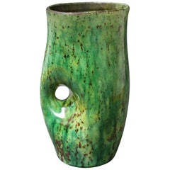 Ceramic Green Vase by Accolay, circa 1960s