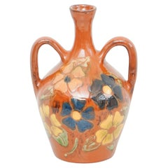 Ceramic Hand Painted Vase by Catalan Artist Diaz Costa, circa 1960
