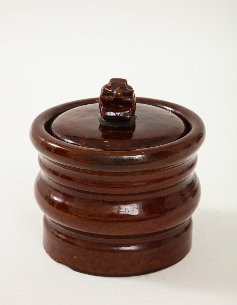 French Ceramic Hermès Tabacco Jar For Sale