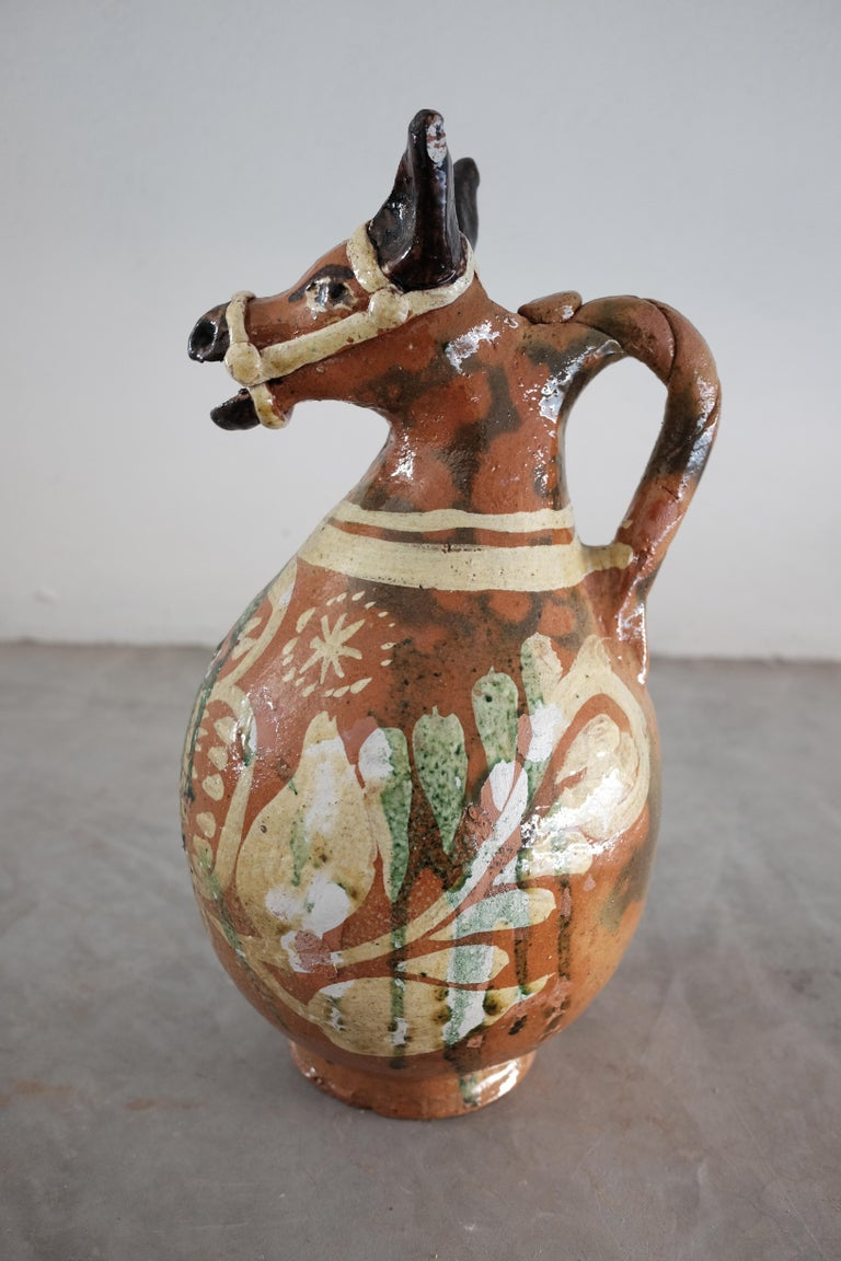 Ceramic Horse Pitchers from Metepec, State of Mexico, 1980s For Sale 4