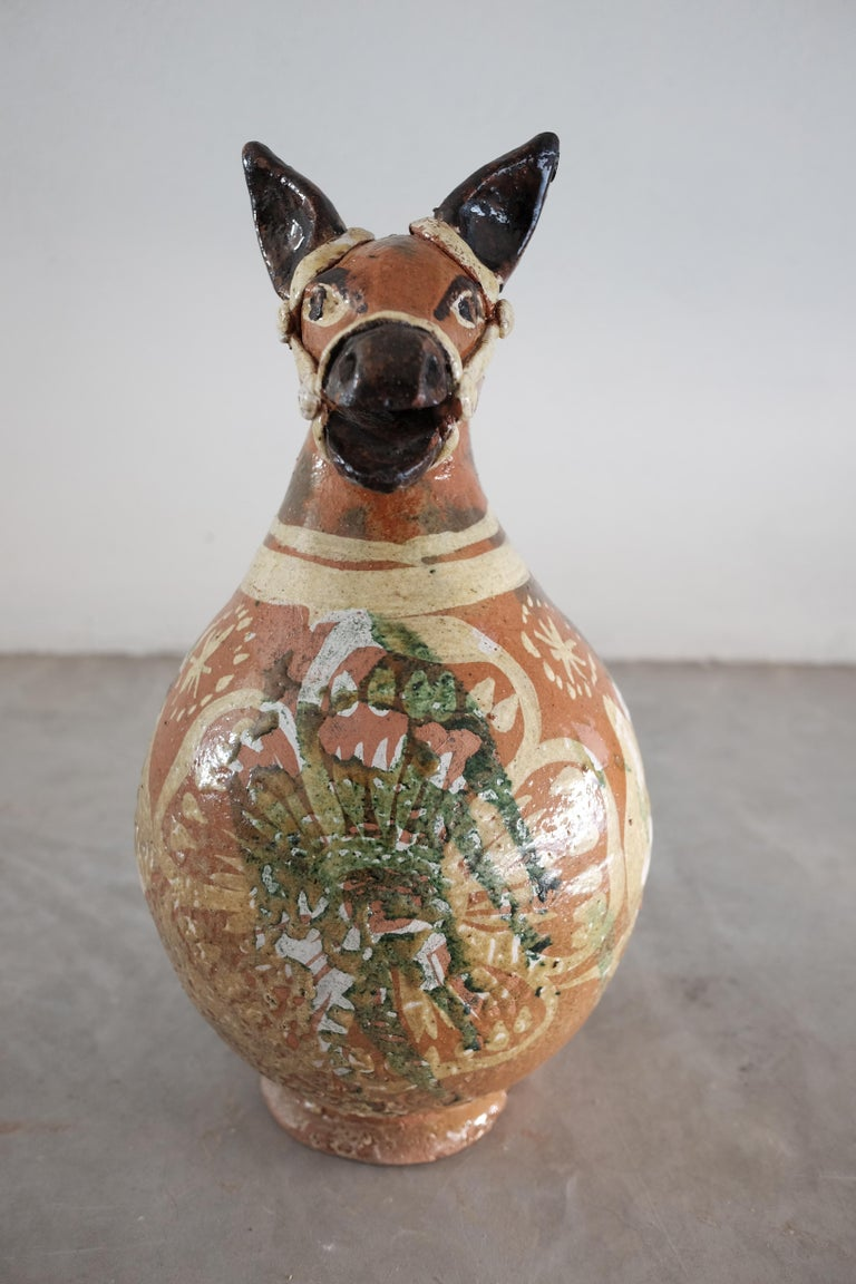 Ceramic Horse Pitchers from Metepec, State of Mexico, 1980s For Sale 5