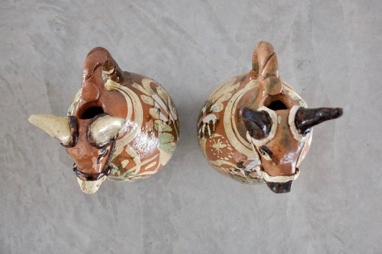 Ceramic Horse Pitchers from Metepec, State of Mexico, 1980s For Sale 7