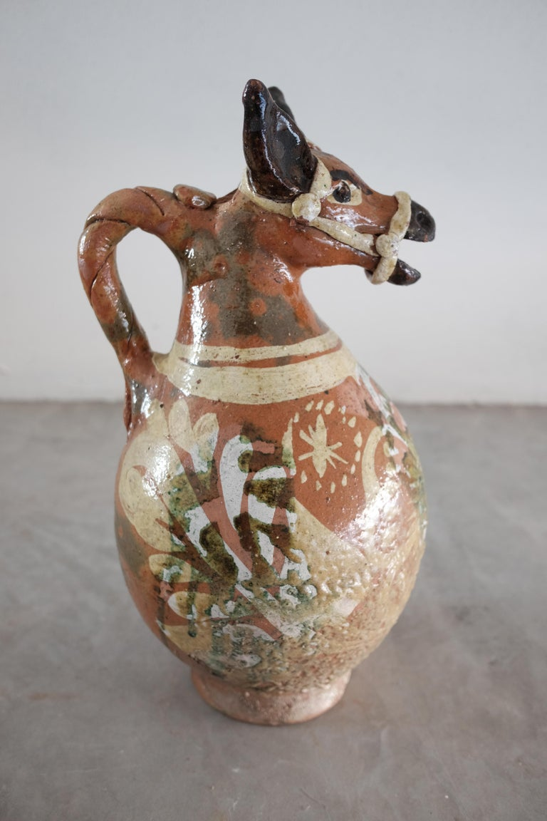 Ceramic Horse Pitchers from Metepec, State of Mexico, 1980s For Sale 1